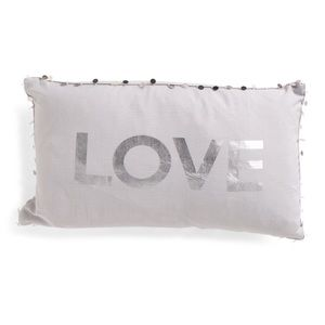 Feather Pillow With silver sequins